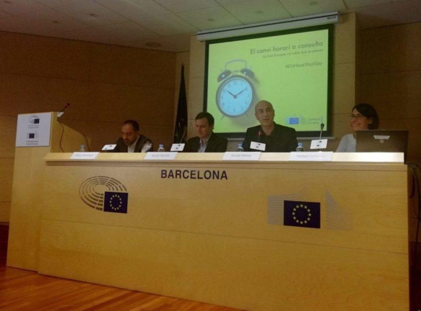 Coloquio sobre el cambio horario organizado por la Representación de la Comisión Europea en Barcelona
