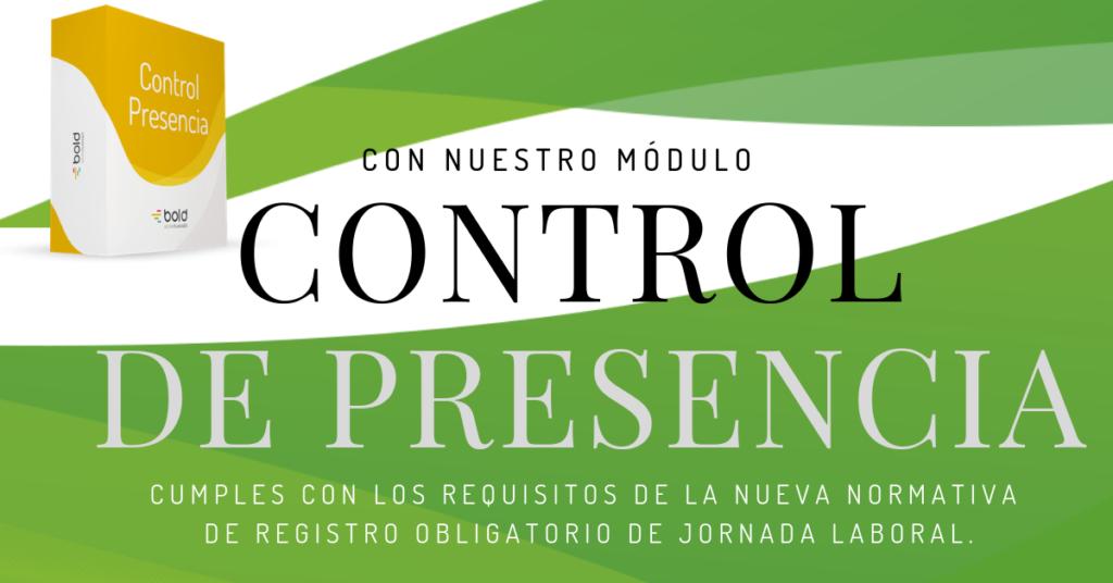 Con nuestro módulo Control de Presencia cumples con la nueva normativa de Registro Obligatorio de Jornada Laboral.