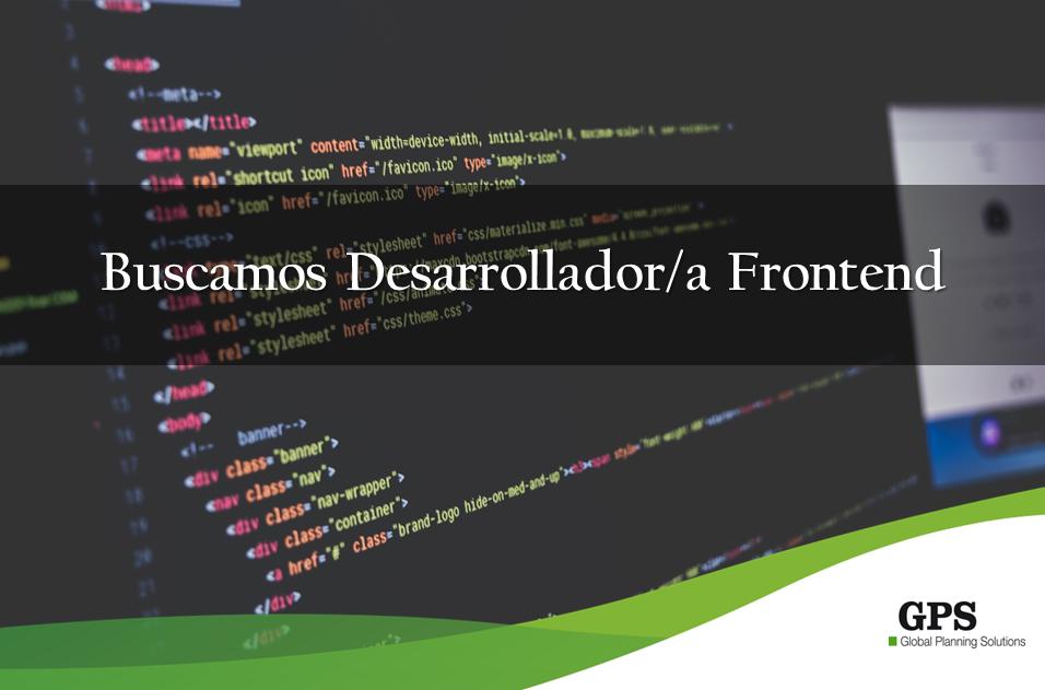 ¡Buscamos un desarrollador frontend para incorporarse en nuestro equipo!
